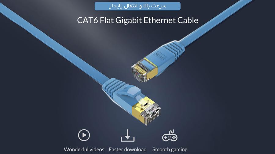 کابل شبکه اوریکو Orico CAT6 LAN Cable PUG-GC6B
