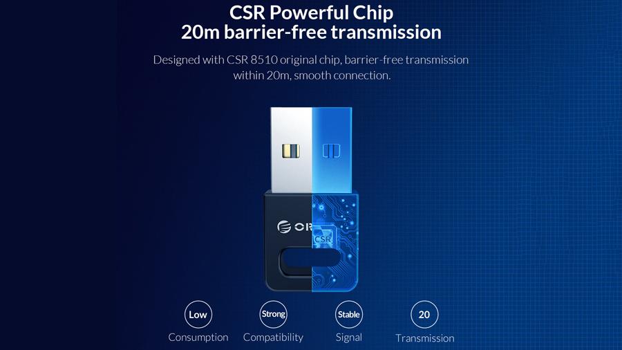 دانگل بلوتوث اوریکو Orico USB External Bluetooth Adapter BT-409 دارای تراشه هوشمند