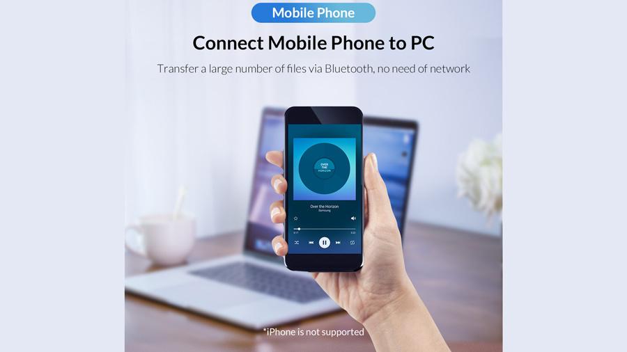دانگل بلوتوث اوریکو Orico USB External Bluetooth Adapter BT-409 قابلیت اتصال موبایل