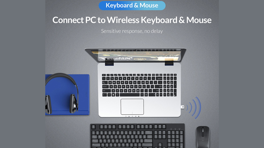 دانگل بلوتوث اوریکو Orico USB External Bluetooth Adapter BT-409 قابلیت اتصال کیبورد و ماوس
