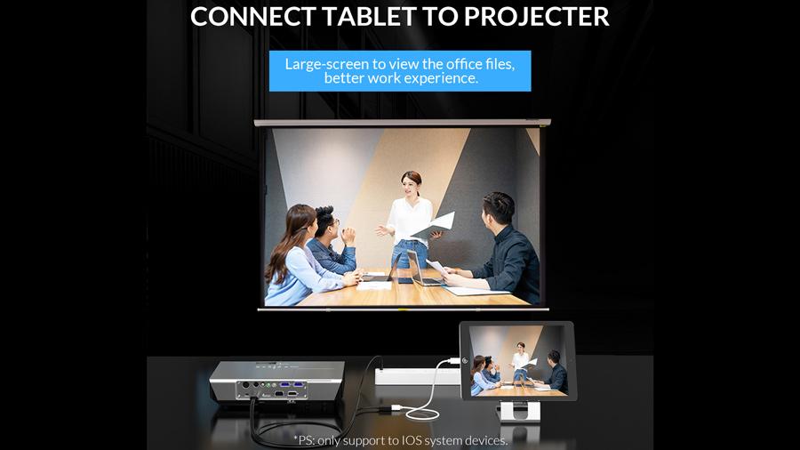 اتصال تبلت به پروژکتور توسط مبدل یو اس بی به HDMI اوریکو Orico USB to HDMI Adapter PE-P1