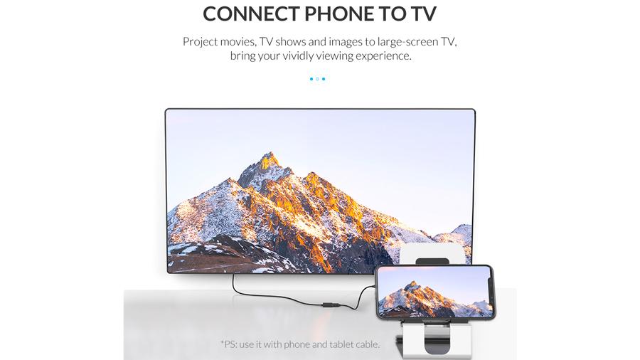 مبدل یو اس بی به HDMI اوریکو Orico USB to HDMI Adapter PE-P1 قابلیت اتصال موبایل به نمایشگر