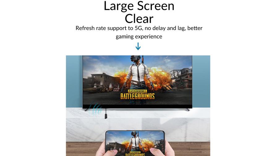 دانگل وایرلس انتقال تصویر به HDMI اوریکو Orico PE-PW1 مناسب گیمر ها