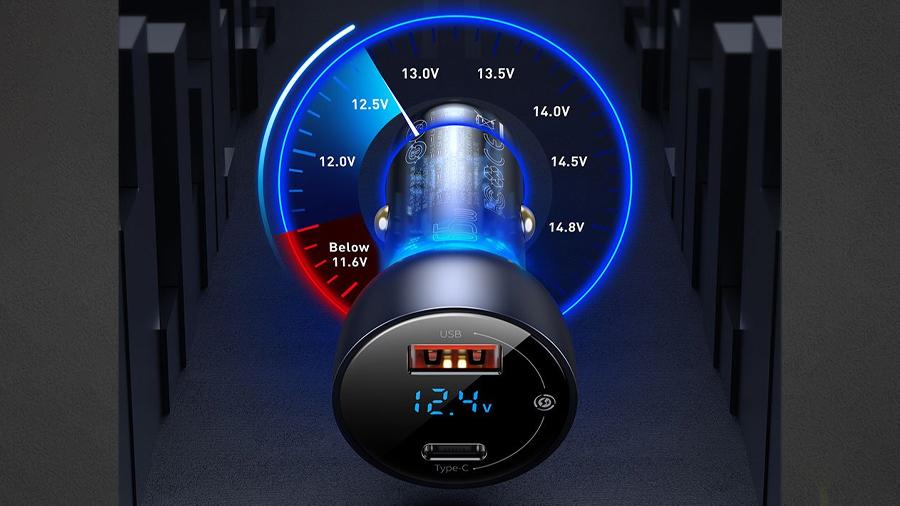 شارژر فندکی سریع با خروجی یو اس بی و تایپ سی بیسوس Baseus Car Charger USB/Type-C 65W  سازگار با اکثر خودروها