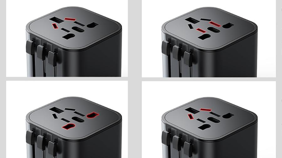 آداپتور شارژ سریع به همراه مبدل چند کاره پریز برق بیسوس Baseus Detachable 2-in-1 global conversion charger قابلیت استفاده تکی از مبدل