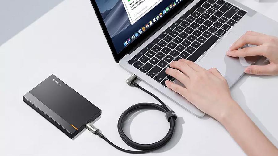 کابل شارژ سریع و انتقال داده تایپ سی به تایپ سی بیسوس Baseus Hammer Cable Type-c PD 1.5M دارای قابلیت انتقال داده با سرعت بالا
