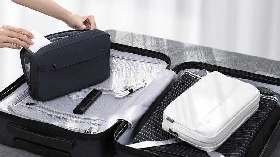 کیف دستی ضد آب بیسوس سایز بزرگ Baseus Multi-Purpose Travel Bag Digital Storage L  دارای فضای مطلوب