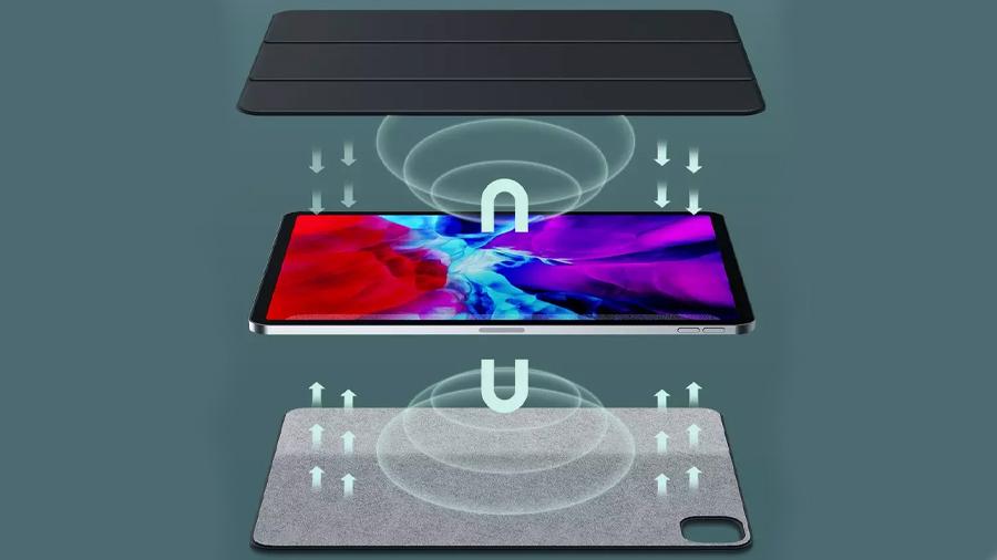 کاور چرمی آیپد پرو 11 اینچ مغناطیسی بیسوس Baseus Magnetic Leather Case for iPad pro (2020) دارای آهنربا های مختلف