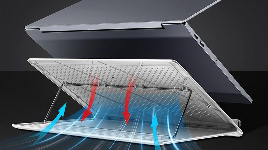 استند لپ تاپ تا 15 اینچ بیسوس Baseus Mesh Portable Laptop Stand 15inch قابلیت خنک کاری لپتاپ