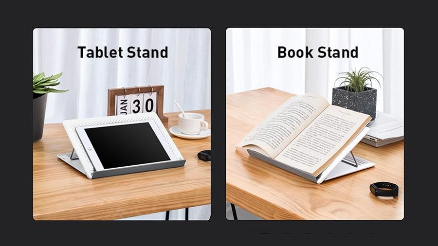 استند لپ تاپ تا 15 اینچ بیسوس Baseus Mesh Portable Laptop Stand 15inch مناسب کتاب خوانی