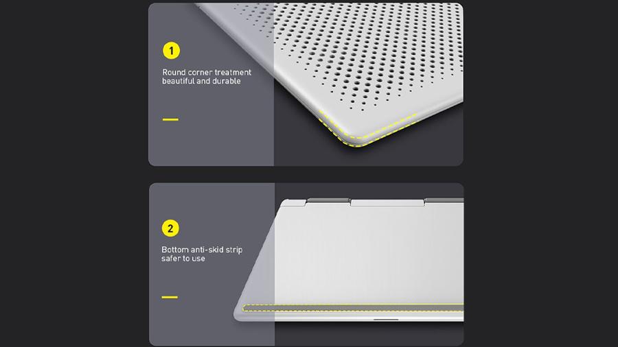 استند لپ تاپ تا 15 اینچ بیسوس Baseus Mesh Portable Laptop Stand 15inch دارای ویژگی های مطلوب