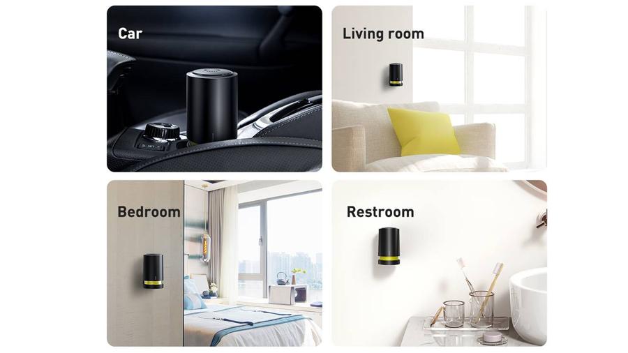 دستگاه تصفیه هوای محصوص خودرو بیسوس Baseus Micromolecule degerming device قابلیت استفاده در محیط های مختلف