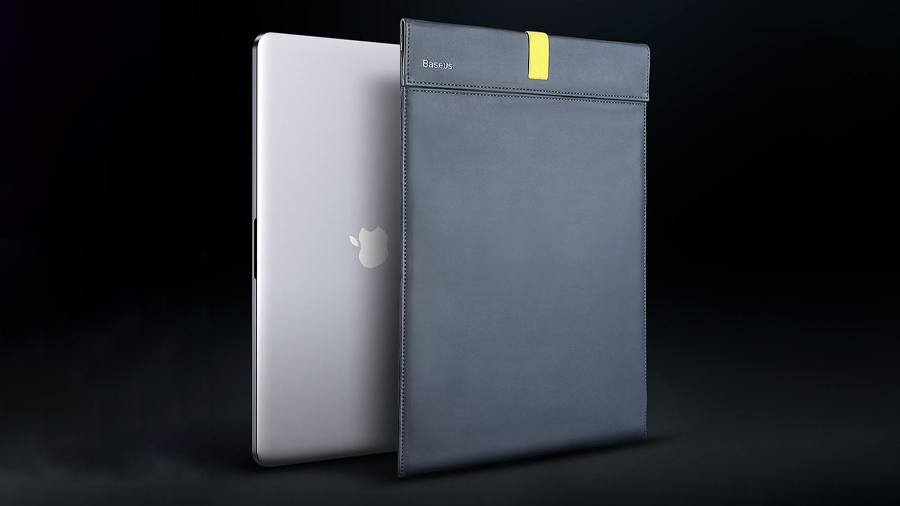 کیف چرمی مخصوص مک بوک بیسوس Baseus Traction Computer Bag