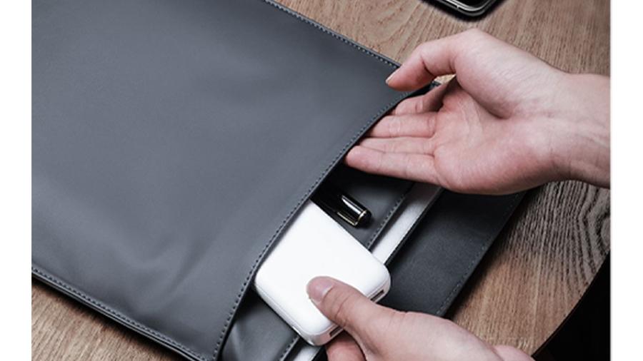 کیف چرمی مخصوص مک بوک بیسوس Baseus Traction Computer Bag دارای محفظه جداگانه