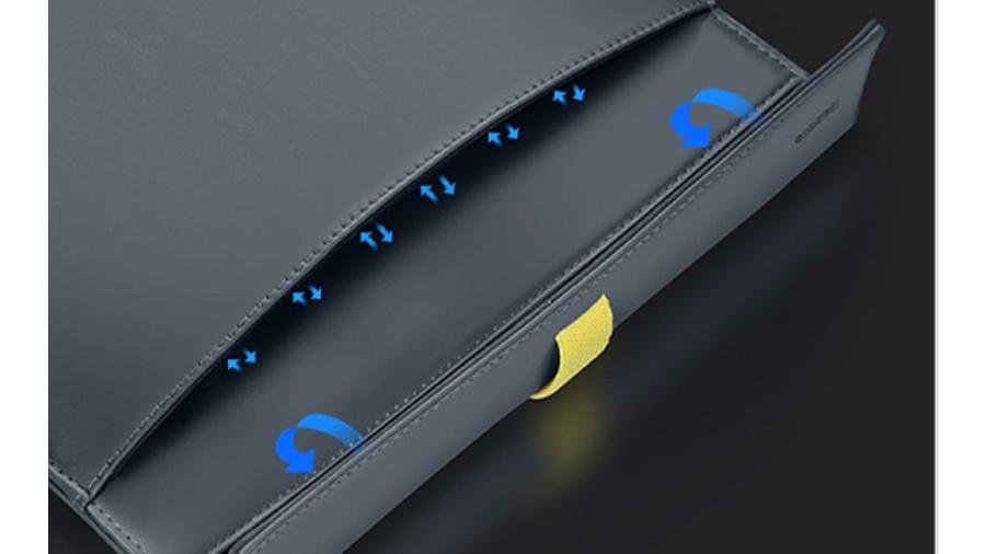 کیف چرمی مخصوص مک بوک بیسوس Baseus Traction Computer Bag بسیار نازک