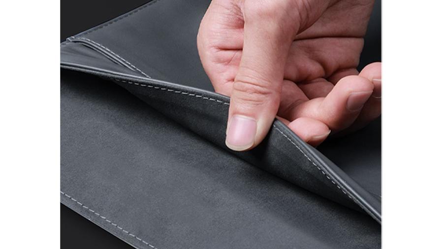 کیف چرمی مخصوص مک بوک بیسوس Baseus Traction Computer Bag پوشش داخلی از جیر