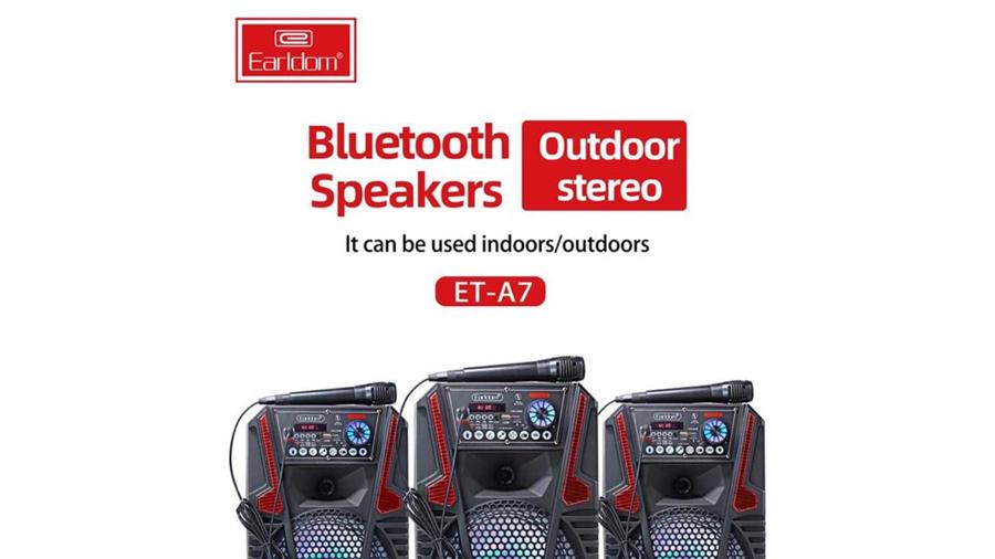 اسپیکر بلوتوث قابل حمل همراه با میکروفون ارلدام مدل Earldom ET-A7 Portable Speaker With 1 Mic دارای صدای مطلوب
