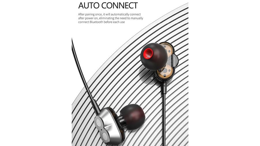 هندزفری بیسیم دورگردنی لنوو Lenovo HE08 Bluetooth Neckband In Ear Earbuds دارای قابلیت اتصال خودکار