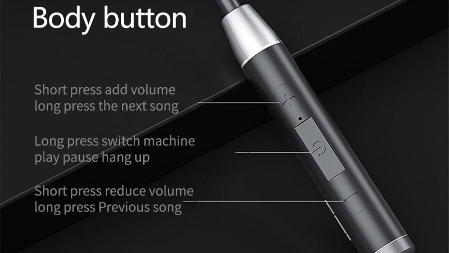 هندزفری بیسیم دورگردنی لنوو Lenovo HE08 Bluetooth Neckband In Ear Earbuds دارای کنترلر موسیقی