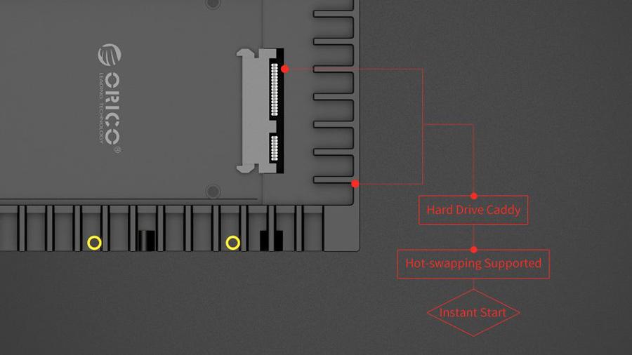 کدی هارد 2.5 اینچ به 3.5 اینچ اوریکو Orico 1125SS بدون نیاز به درایور