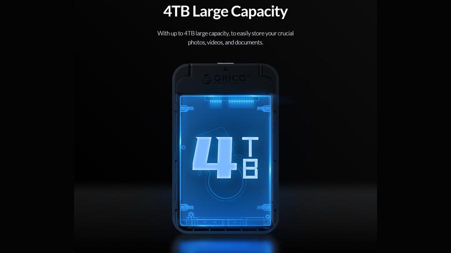 باکس هارد درایو 2.5 اینچی اوریکو Orico 2520U3 پشتیبانی تا 4 ترابایت