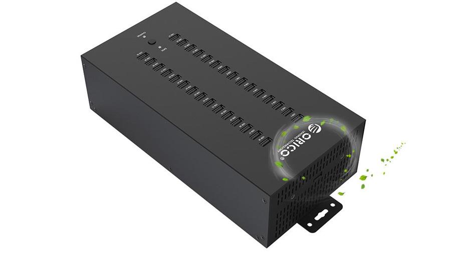 هاب صنعتی 30 پورت یو اس بی 2.0 اوریکو Orico IH30P 30Port USB 2.0 Hub دارای طراحی مهندسی شده