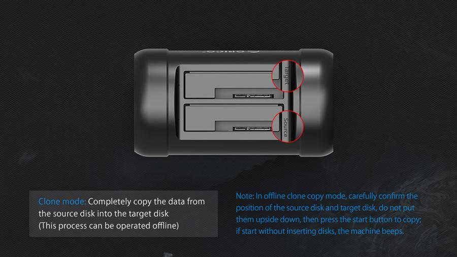 داک هارد درایو و اس اس دی اوریکو Orico 5628US3-C دارای قابلیت کلون کردن