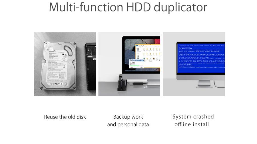 قاب هارد درایو 2.5/3.5 اینچی با قابلیت تکثیر اوریکو Orico 6528US3-C Hard Drive Enclosure with Duplicator دارای قابلیت چندکاره