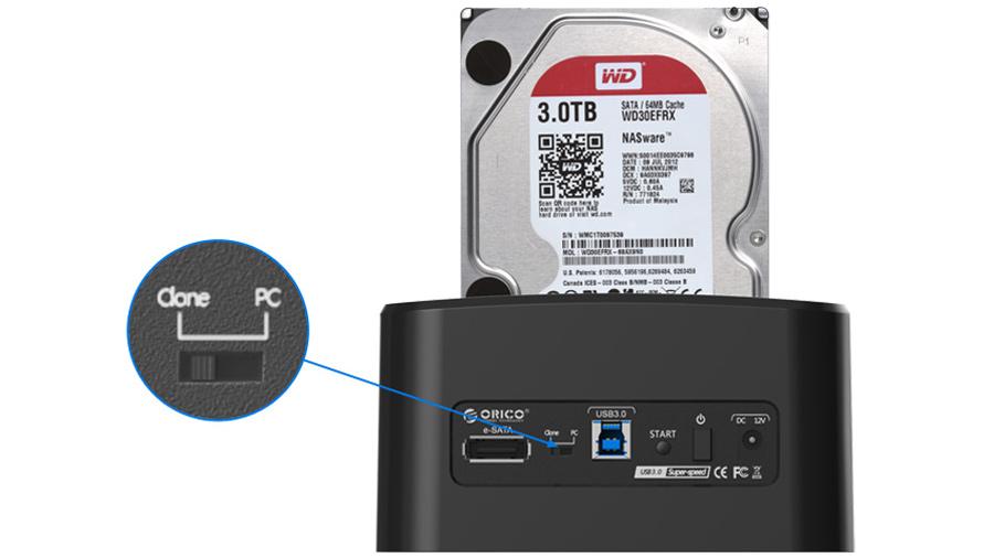 داک هارد درایو اینترنال اوریکو Orico 8628SU دارای قابلیت کلون مستقل