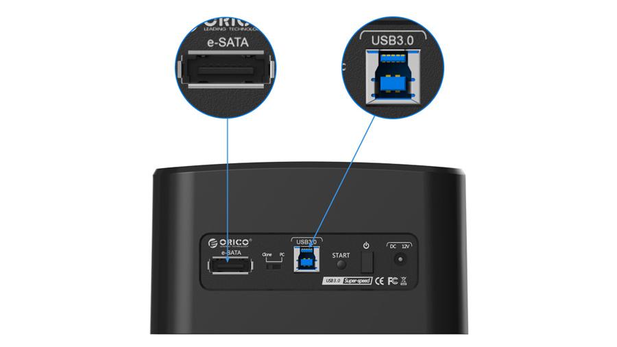 داک هارد درایو اینترنال اوریکو Orico 8628SU دارای دو خروجی