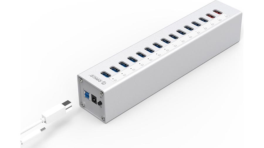 هاب آداپتور 13+2 پورت یو اس بی 3.0 اوریکو Orico A3H13-P2 13+2 Port USB3.0 Hub دارای کابل دیتا مجزا