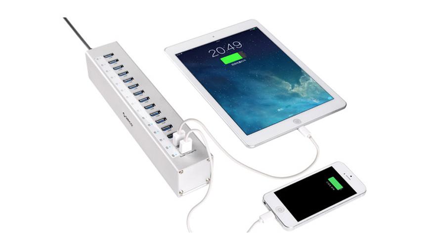 هاب آداپتور 13+2 پورت یو اس بی 3.0 اوریکو Orico A3H13-P2 13+2 Port USB3.0 Hub دارای دو پورت مخصوص شارژ