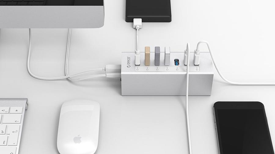 هاب آداپتور یو اس بی 7 پورت اوریکو Orico A3H7 USB3.0 Hub سرعت بالای انتقال داده