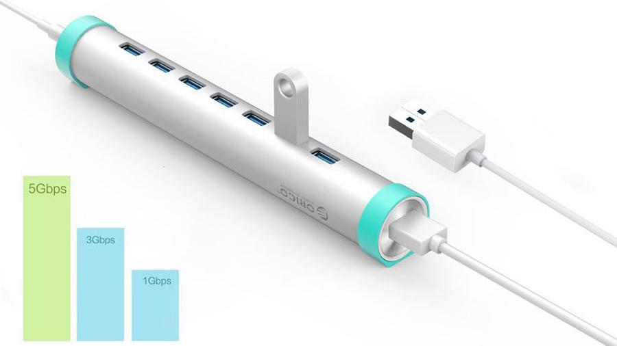 هاب 7 پورت یو اس بی اوریکو Orico ARH7-U3 7 Port USB3.0 Hub دارای سرعت انتقال اطلاعات بالا