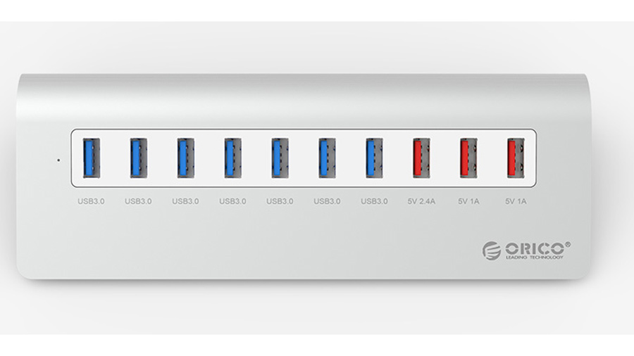 هاب 7+3 پورت یو اس بی اوریکو Orico M3H73P 7+3Port USB 3.0 Hub