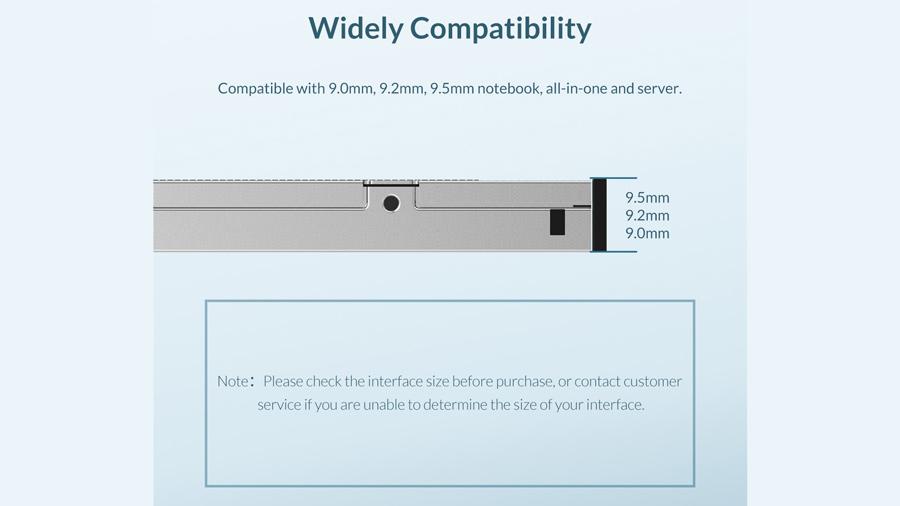 کدی هارد درایو معمولی و اس اس دی 9.5 میلیمتری اوریکو Orico M95SS سازگاری گسترده با انواع لپ تاپ ها
