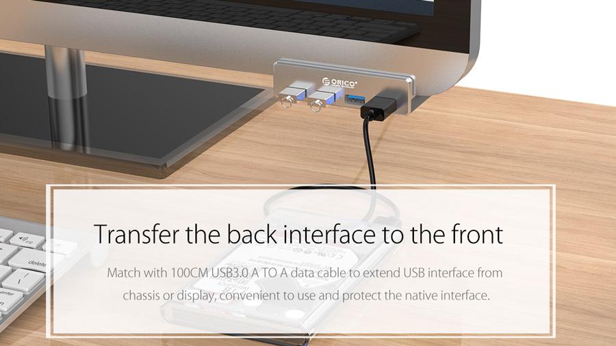 هاب یو اس بی 4 پورت اوریکو Orico MH4PU 4 Port USB 3.0 Hub دارای کابل یک متری