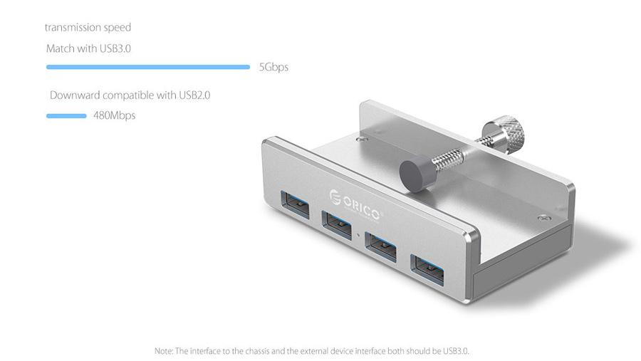 هاب یو اس بی 4 پورت اوریکو Orico MH4PU 4 Port USB 3.0 Hub دارای یو اس بی پرسرعت