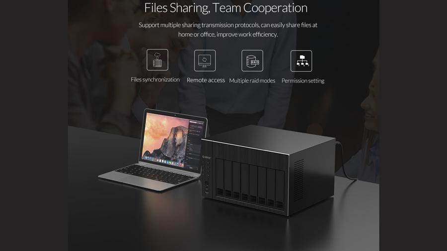 ذخیره ساز تحت شبکه 4Bay با 4گیگ رم اوریکو Orico OS400 کمک به کار تیمی
