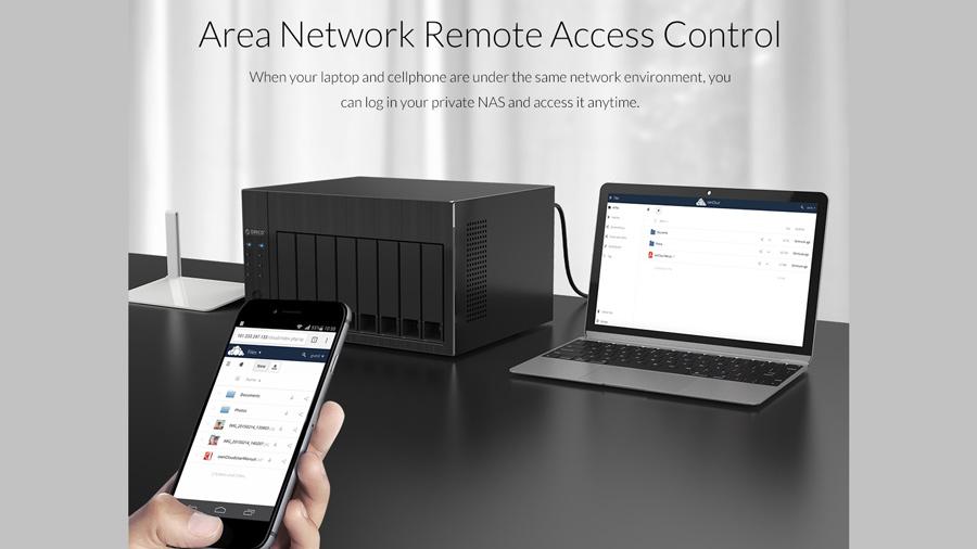 ذخیره ساز تحت شبکه 4Bay با 4گیگ رم اوریکو Orico OS400 قابلیت کنترل از شبکه