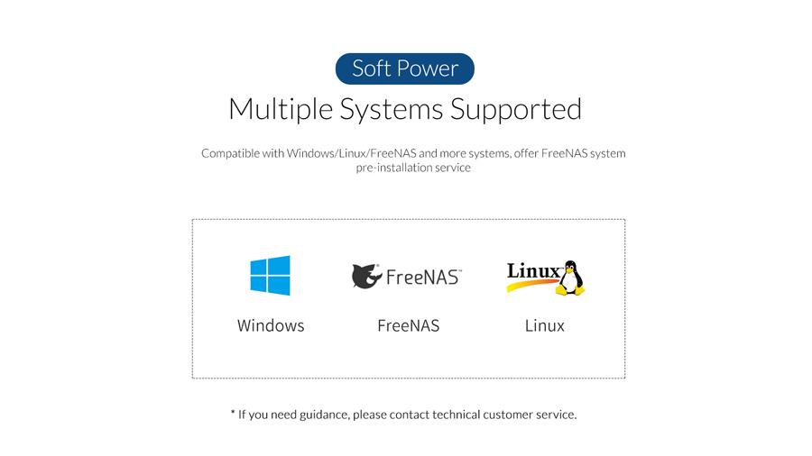 ذخیره ساز تحت شبکه 4Bay با 4گیگ رم اوریکو Orico OS400 سازگار با سیستم عامل های مختلف