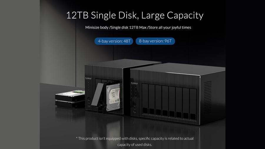 ذخیره ساز تحت شبکه 4Bay با 4گیگ رم اوریکو Orico OS400 پشتیبانی از هارد درایو های 12 ترابایتی
