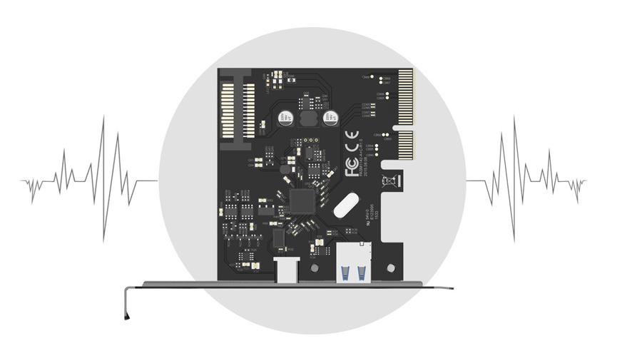 هاب اینترنال یو اس بی دو پورت اوریکو Orico PA31-2P 2 Port USB3.1 PCI-E Adapter دارای خازن حالت جامد