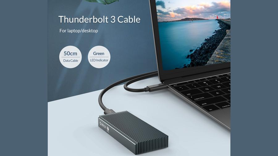 قاب اس اس دی تاندربولت 3 اوریکو Orico SCM2T3-G40 NVMe M.2 دارای کابل تاندربولت