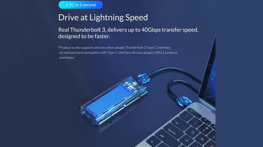 قاب اس اس دی تاندربولت 3 اوریکو Orico TCM2T3-G40 NVMe M.2 دارای سرعت بالای 40گیگابیت بر ثانیه