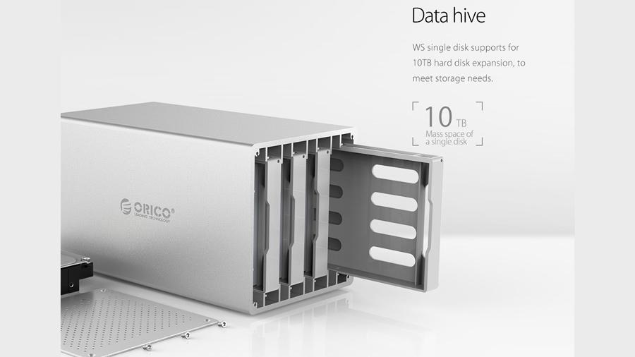 قاب هارد درایو همراه با Raid اوریکو ORICO WS500RU3  یک مرکز داده عظیم