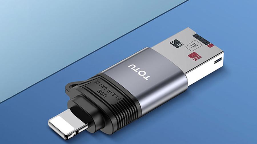 رم ریدر او تی جی لایتنینگ توتو Totu FGCR-006 Lightning OTG External TF Flash Card