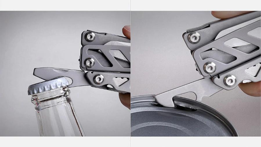 چاقوی چندکاره شیائومی هوهو Xiaomi Huohuo Nextool Multi-function Knife HU0040 باز کردن درب قوطی کنسرو و نوشابه