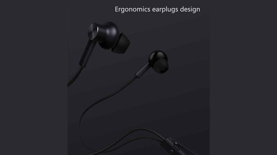 هندزفری باسیم نویزکنسلینگ شیائومی XIAOMI Mi JZEJ02JY Noise Cancelling In-ear Headphone دارای طراحی ارگونومیک ایرفون ها