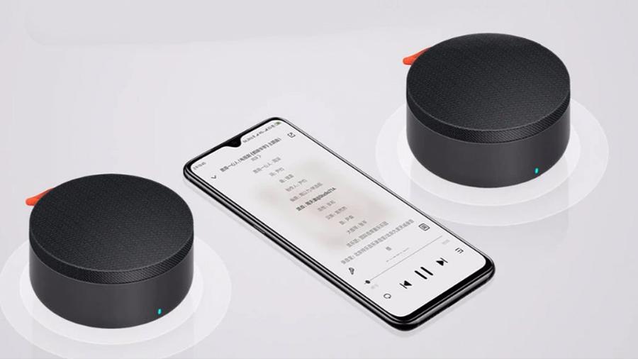 اسپیکر بلوتوث قابل حمل شیائومی Xiaomi Mi Outdoor Bluetooth Speaker mini قابلیت استریو